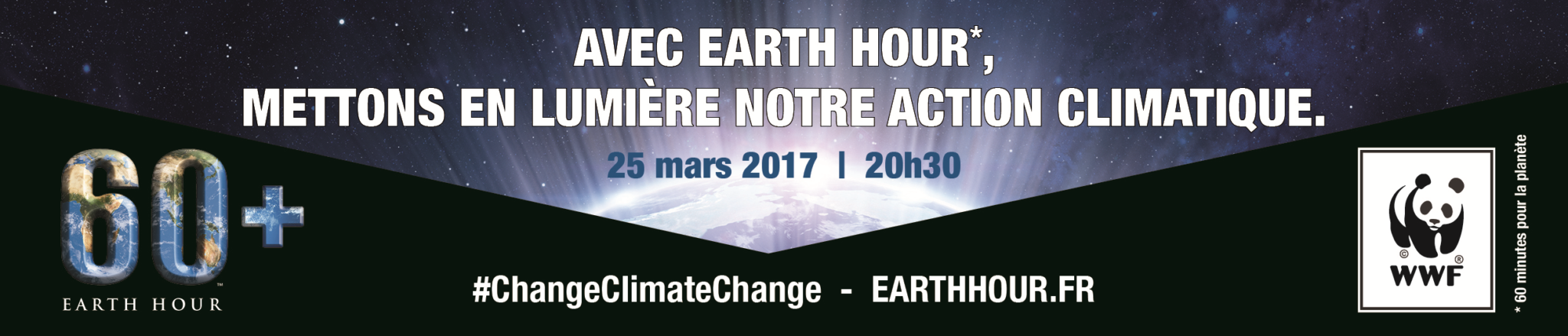 Earth Hour, extinction de la Tour Eiffel le 25 mars