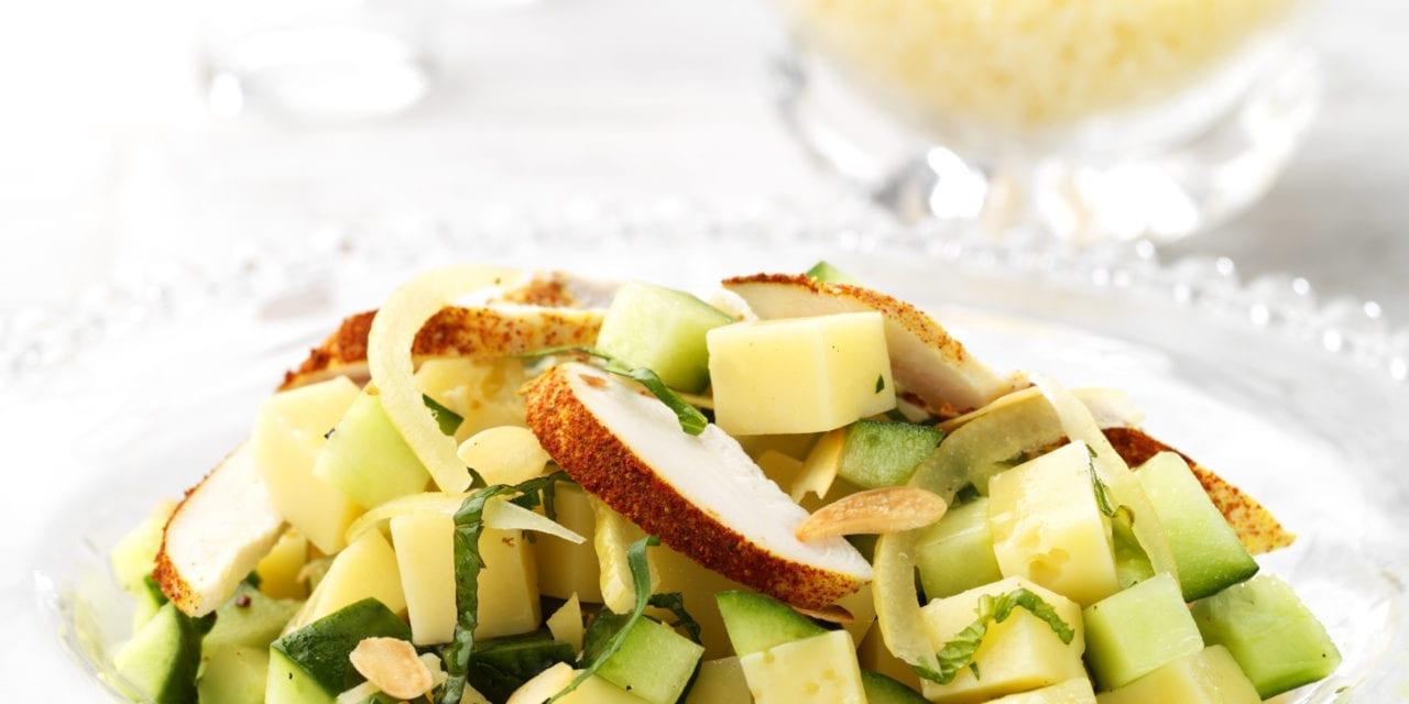 Salade de poulet au citron et à l'Abondance