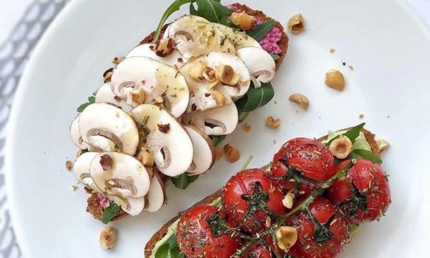 Bruschettas végétariennes aux champignons