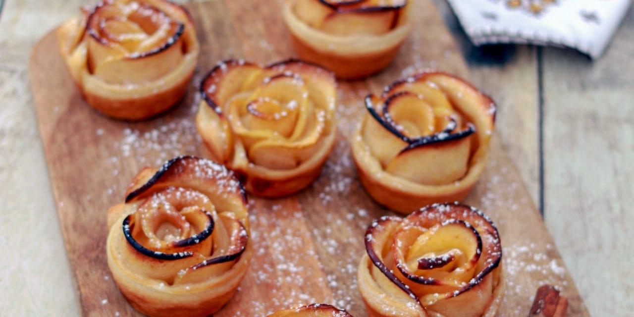 Rose feuilletée à la pomme et à la cannelle