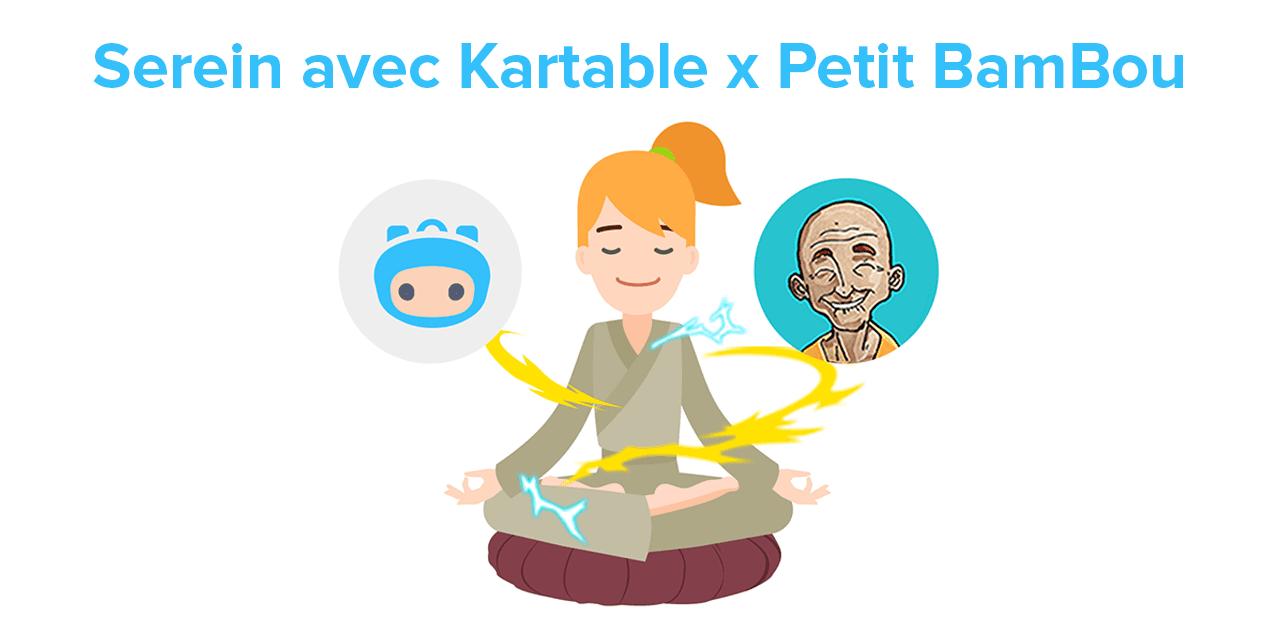 Kartable et Petit BamBou associent méditation et révisions scolaires en ligne