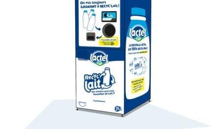 Lactel recycle ses bouteilles de lait en plastique