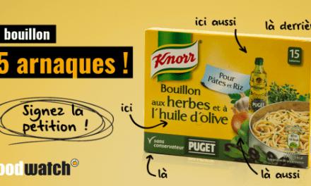Les 5 arnaques du bouillon Knorr