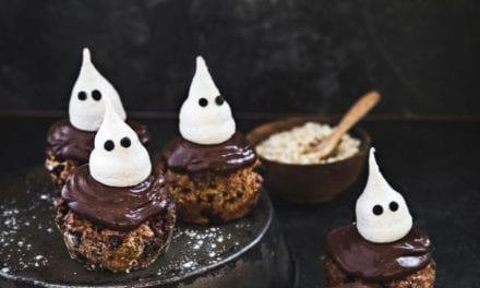 Muffins au chocolat et meringues fantômes