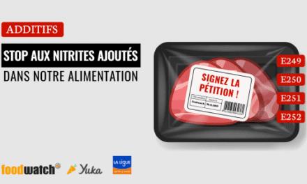 Pour l'interdiction des nitrites et nitrates dans l'alimentation