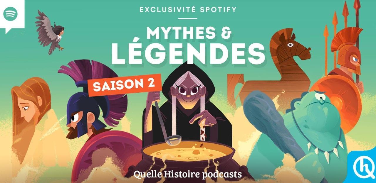 Podcast Mythes & Légendes diffusé gratuitement sur Spotify