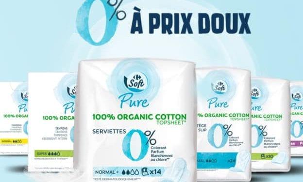 Carrefour soft pure, des produits d'hygiène-beauté 0%